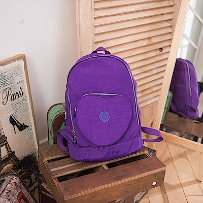 COUNT DUCK 美系悠活輕量愛心輕旅後背包-CD-018-紫色