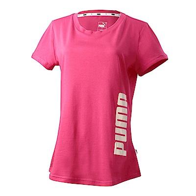 PUMA-女性基本系列Summer印花短袖T恤-洋桃紅-亞規