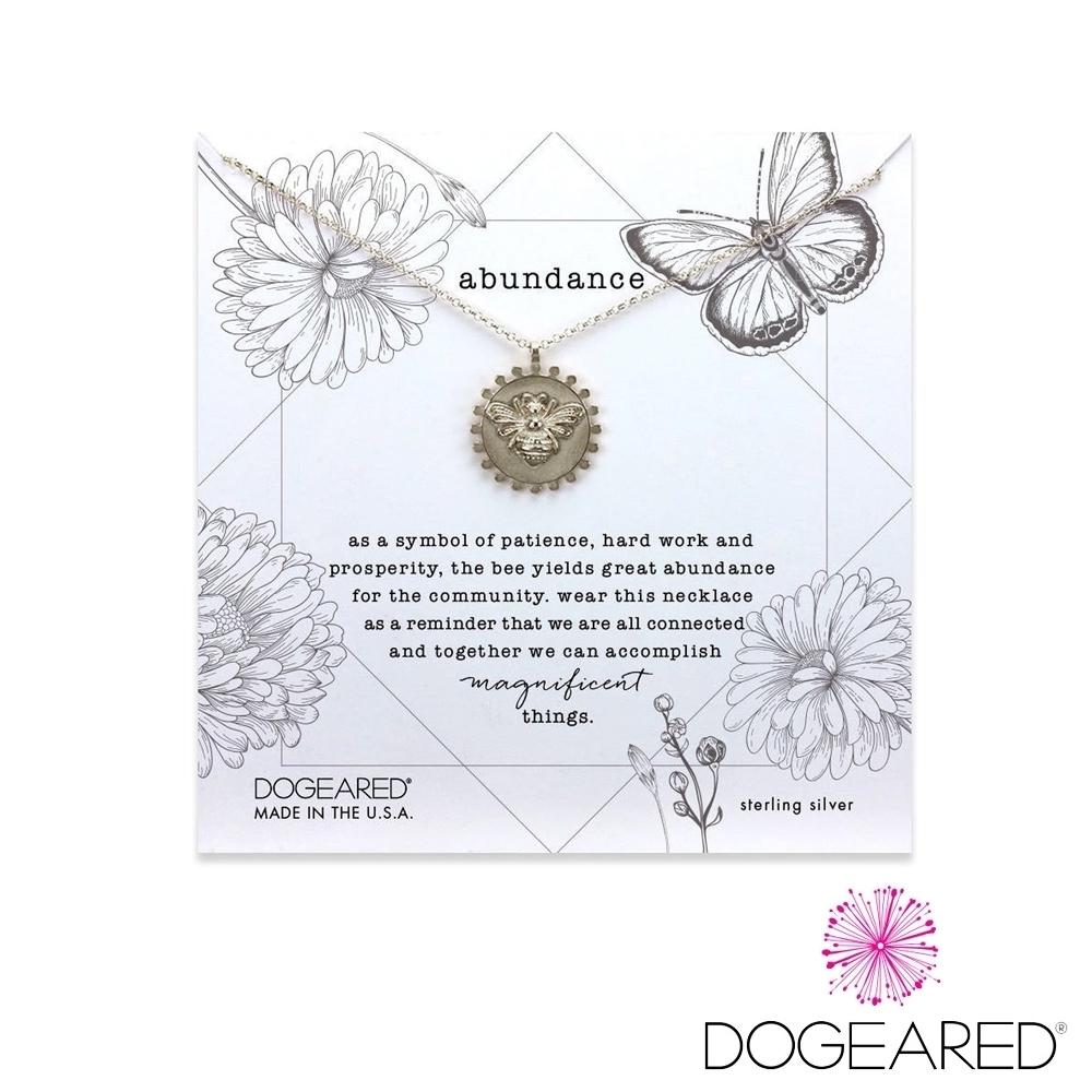 美國DOGEARED 魅力小蜜蜂金幣純銀祈願項鍊 Abundance Bee Necklace