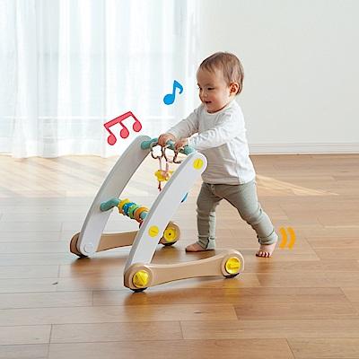 日本People 折疊式簡易健力架&學步車組合(0m+)(安撫玩具/塑膠袋聲音)