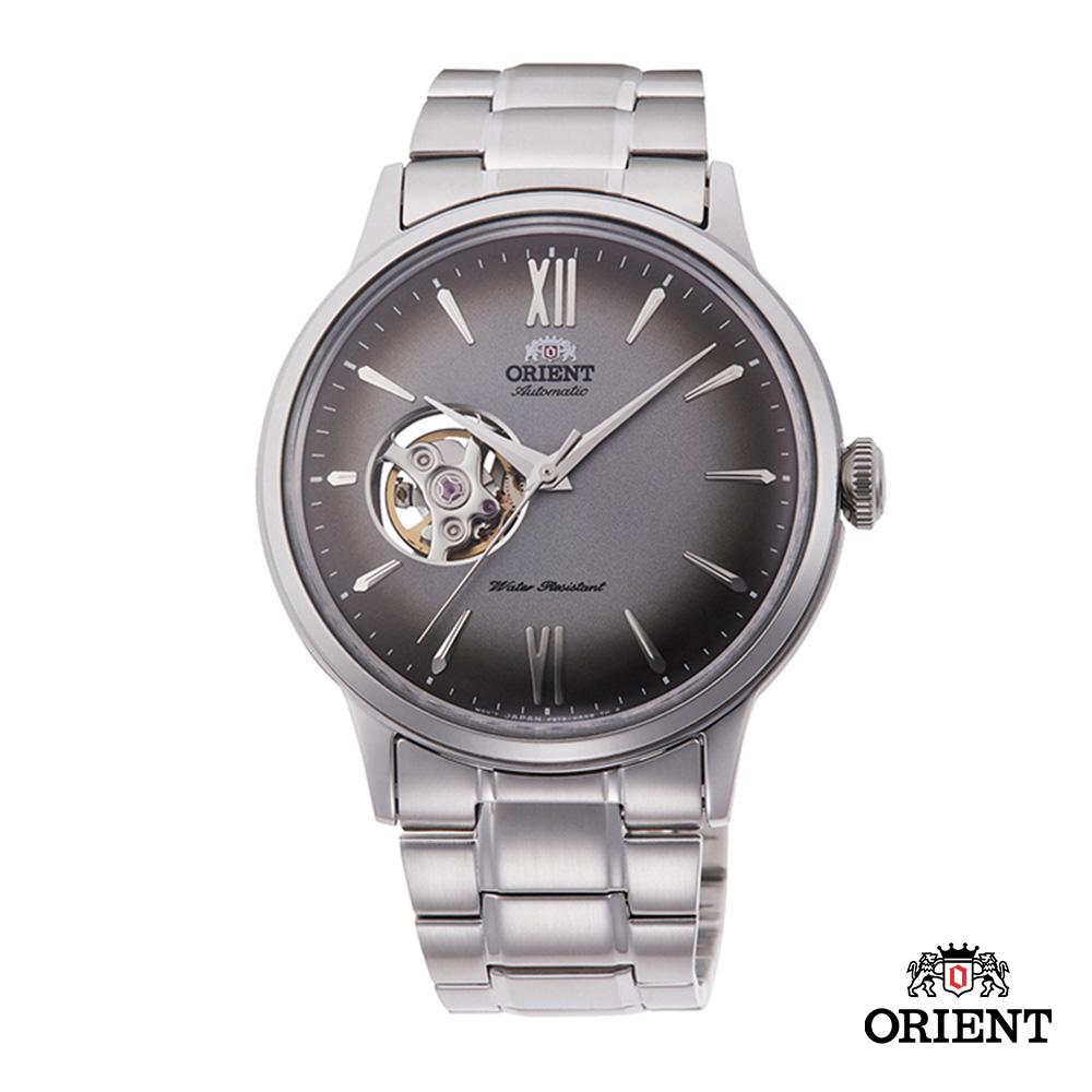 ORIENT 東方錶 SEMI-SKELETON系列 機械錶 鋼帶款 灰色 40.5mm