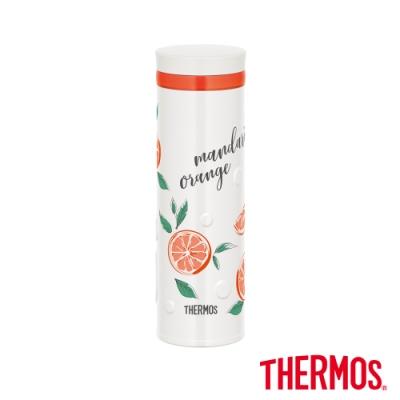 【THERMOS膳魔師】不銹鋼真空保溫杯500ml-柳橙白(JNO-502G-ORWH)