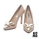 高跟鞋 AS 華麗優雅蝴蝶造型尖頭美型高跟鞋-米 product thumbnail 1