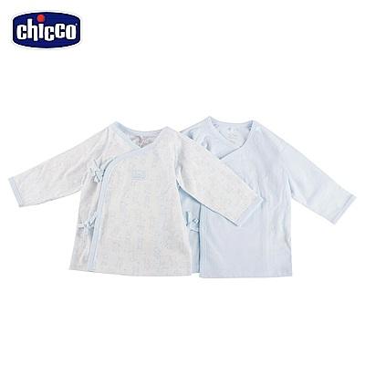 chicco-印花肚衣二入-藍(3-6個月)