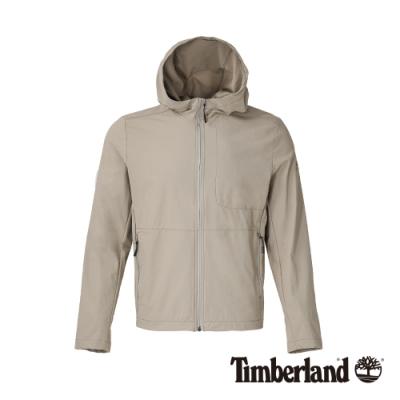 Timberland 男款象牙色戶外休閒連帽外套 A1OKJ