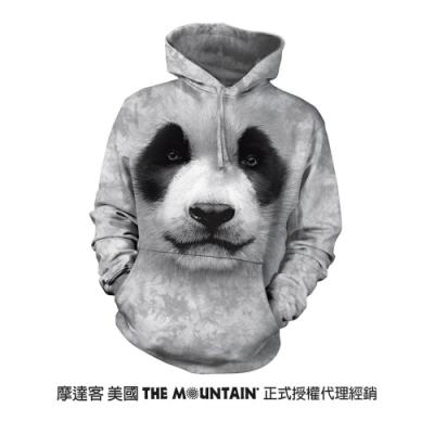 摩達客 美國進口The Mountain 熊貓胖達臉   長袖連帽T恤