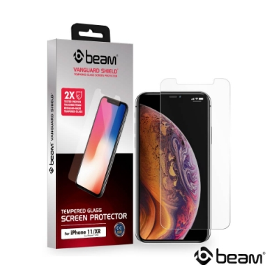 【BEAM】 iPhone 11/XR 透明耐衝擊鋼化玻璃保護貼