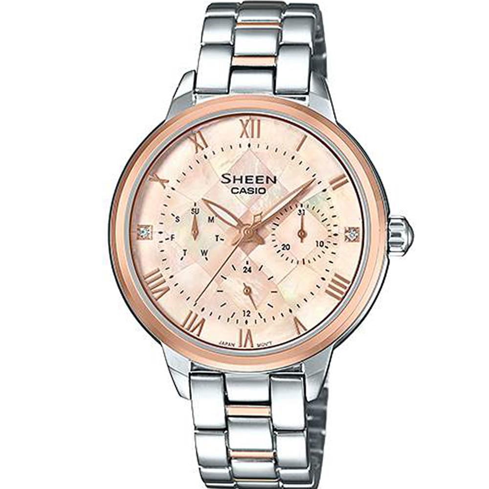 CASIO SHEEN  優雅迷人風采指針錶(SHE-3055SPG-4A)34.3mm