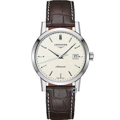 Longines 浪琴 1832 經典復刻皮帶款機械錶(L48254922)