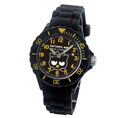 Sanrio三麗鷗二代中型運動彩帶錶34mm酷企鵝(黑)