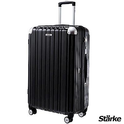 Starke LUXURY 26吋PC耐撞TSA海關鎖拉鏈行李箱/旅行箱 -黑色