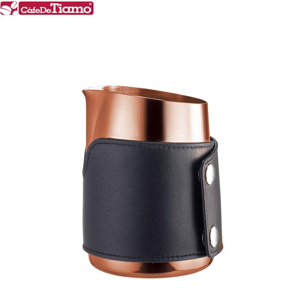 Tiamo 1431B 無柄斜口拉花杯尖口-玫瑰金款 450cc(HC7112BZ)