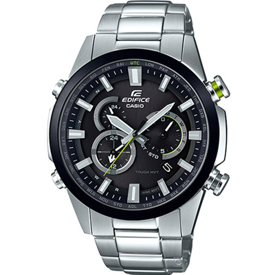 EDIFICE 經典新賽車計時運動錶(EQW-T640YDB-1A)