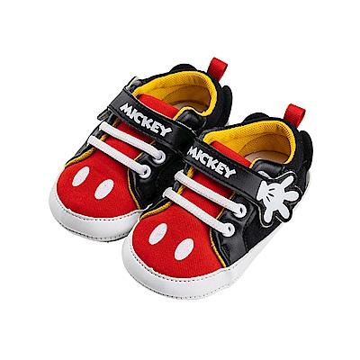 迪士尼童鞋 米奇 經典手套魔鬼氈學步鞋-紅
