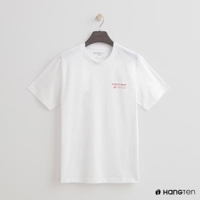 Hang Ten - 簡約雙面logo個性圖樣短T- 白