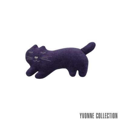 Yvonne Collection 貓咪造型玩偶/滑鼠墊- 暗紫