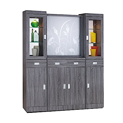 綠活居 柏蘇亞5.4尺屏風櫃/玄關櫃組合(二色可選)-162x39x197cm-免組