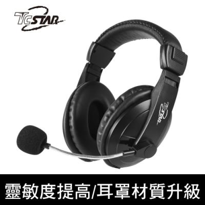 TCSTAR 頭戴式有線耳機麥克風 TCE8769