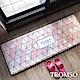 TROMSO 巴黎樂活短毛絨地墊(長+短套組)-M701粉紅生活 product thumbnail 1
