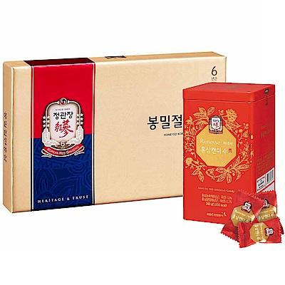 正官庄 蜂蜜切片(6包/盒)+高麗蔘糖240g
