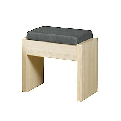 [時時樂限定]Bernice-心情小巧化妝椅(洗白色)-40x30x42cm