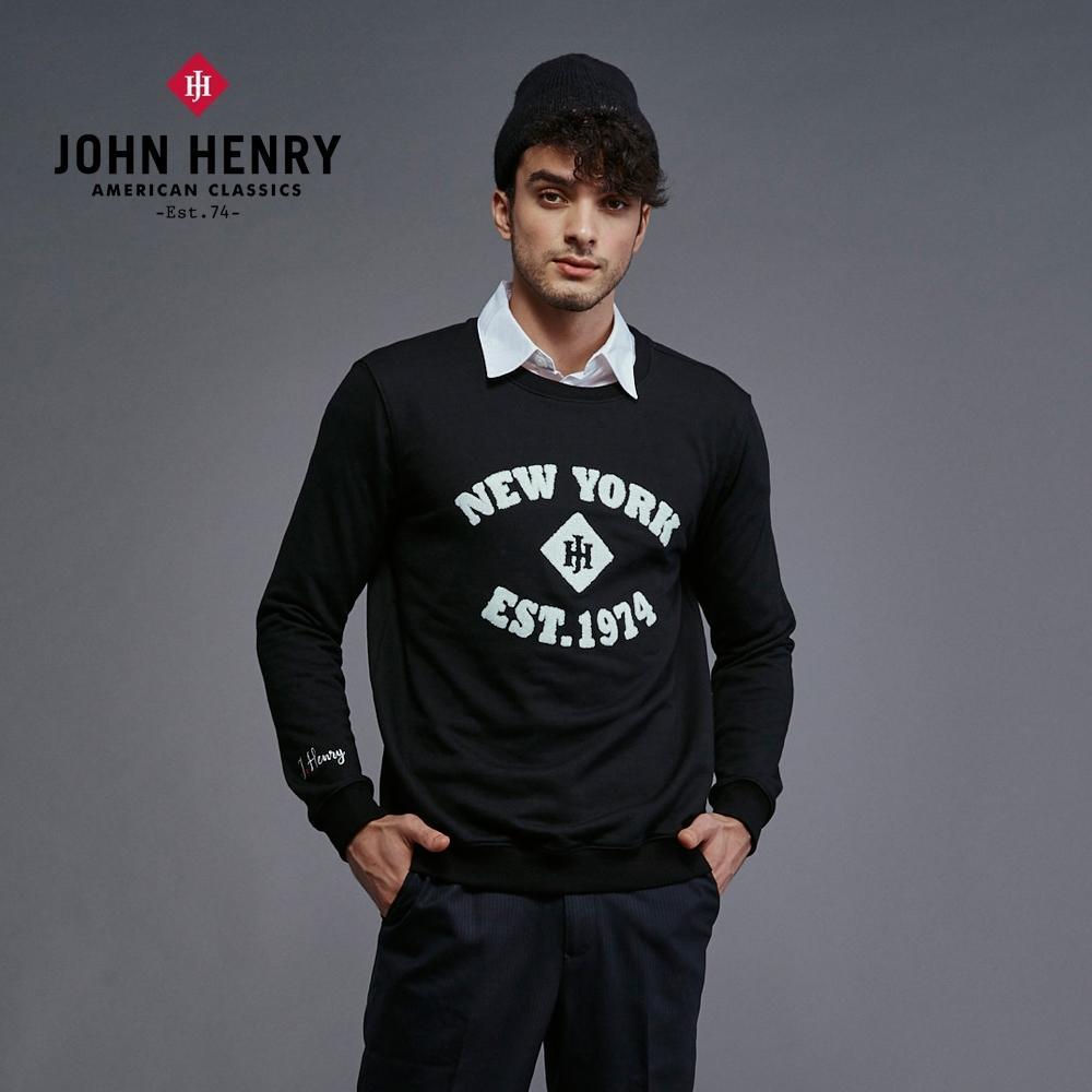 【JOHN HENRY】純棉紐約復古字母大學T- 3色選