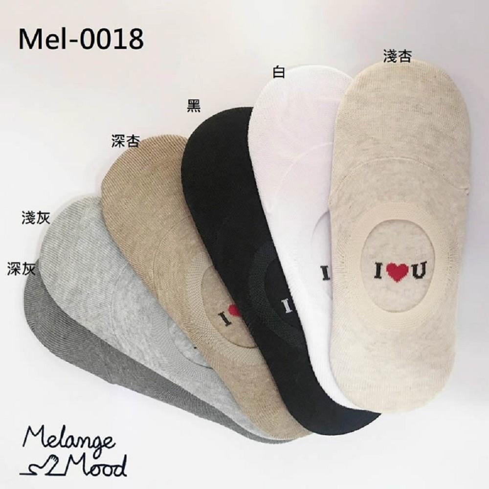 襪子 英文字母百搭隱形襪Mel-0018-創翊韓都