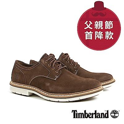 Timberland 男款深咖啡色麂皮淺口鞋