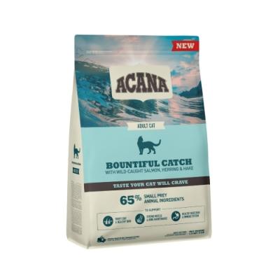 加拿大ACANA愛肯拿-豐盛魚獲貓低GI配方-野生鮭魚.鱈魚+海帶全齡貓(腎臟保健) 1.8KG/4LB