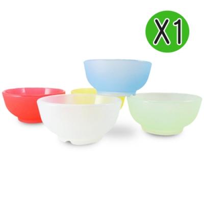 Mrs.home MIT環保無毒SGS認證歡樂漾彩耐熱耐酸矽膠兒童碗
