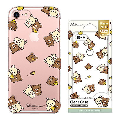 iPhone 8/7 拉拉熊 PC/透明/金箔 手機硬殼 4.7吋-繽紛拉拉熊