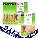 買5送1 HiPP喜寶 - 有機寶寶綜合黃金穀物精200g/6盒