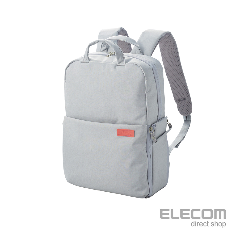 ELECOM 帆布多功能旅行後背包(L)S041-杏仁白