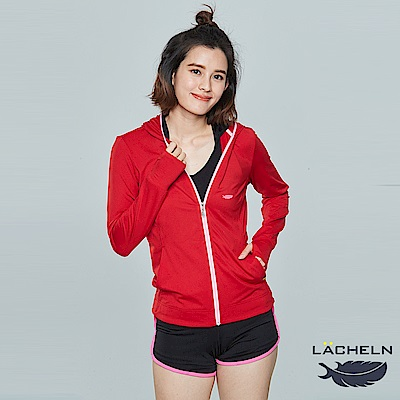 【LACHELN】全面防曬口罩式快乾透氣連帽針織外套(L81W506)