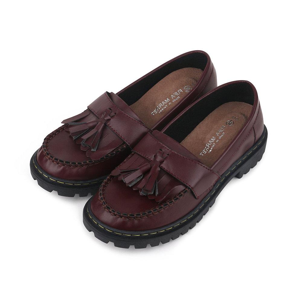 BuyGlasses 英國流蘇樂福鞋-紅