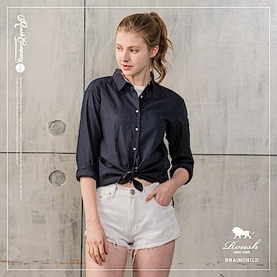 Roush 女生亞麻素面襯衫(4色)