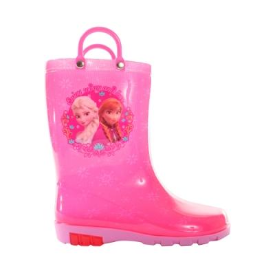 魔法Baby 女童雨鞋 台灣製迪士尼冰雪奇緣正版長筒雨靴 sa04293