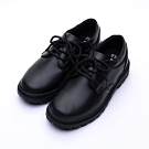 艾樂跑Arriba女款 綁帶式皮鞋 學生鞋-黑 (AB-8039)