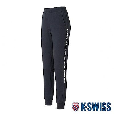 K-SWISS Flex-5Five Sweat Pants棉質運動長褲-女-黑