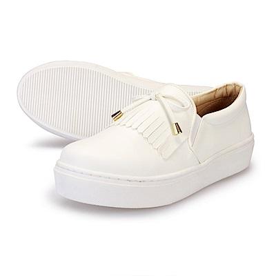 BuyGlasses 韓系淑女質感便鞋-白