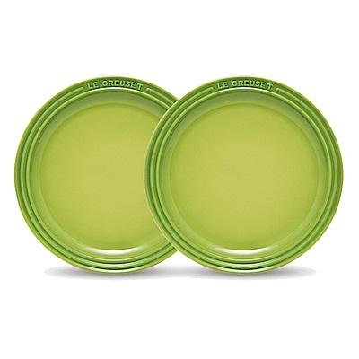 LE CREUSET 瓷器圓盤 27cm- 2入(棕櫚綠)