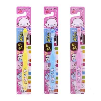 日本【Lion】卡通人物系列小白鯨兒童專用牙刷 (6~12歲) *3入