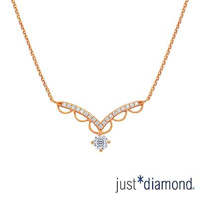 Just Diamond Lacy Crown18K玫瑰金系列 鑽石項鍊
