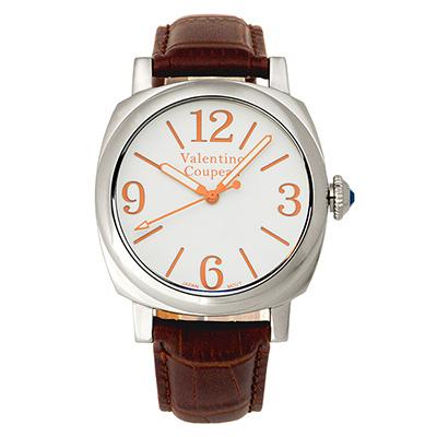 Valentino Coupeau 范倫鐵諾 古柏 紳士風尚腕錶 白面 咖啡皮帶