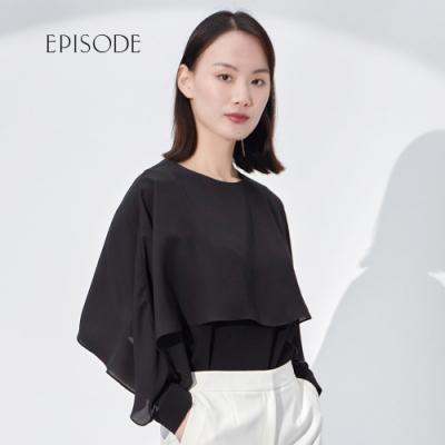 EPISODE - 優雅圓領荷葉設計長袖上衣