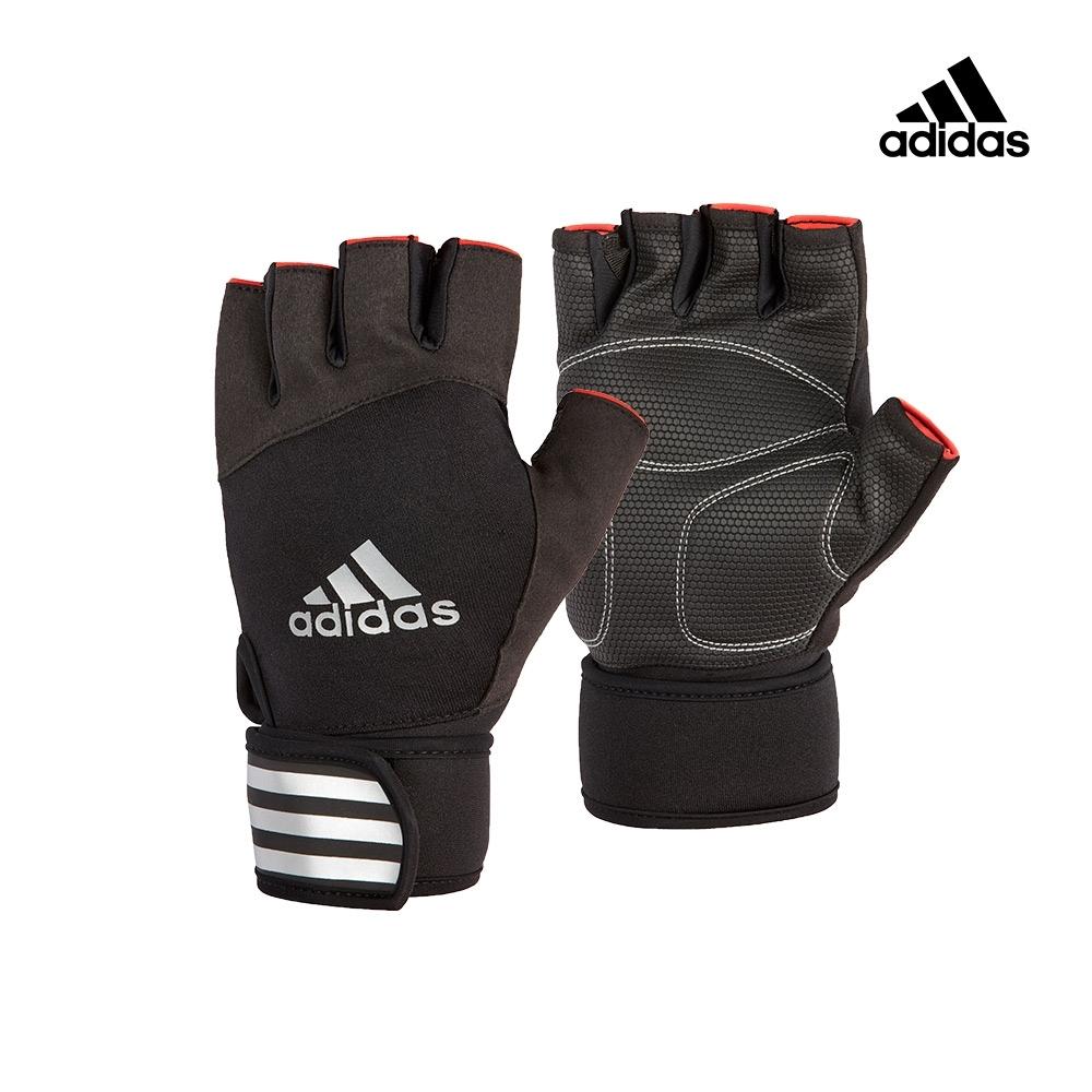 (時時樂)Adidas Training 進階加長防護手套 (內斂黑)送運動毛巾