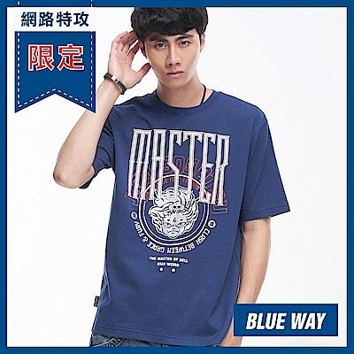 網路限定_地藏小王-BLUE WAY-金箔LOGO短TEE