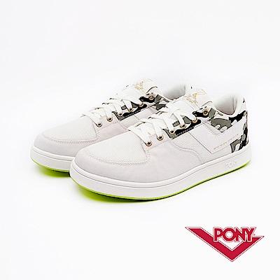 【PONY】ATOP EG系列-迷彩風格滑板鞋款-女-白