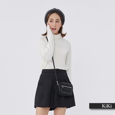 【KiKi】舒適高領內著-針織衫(二色)