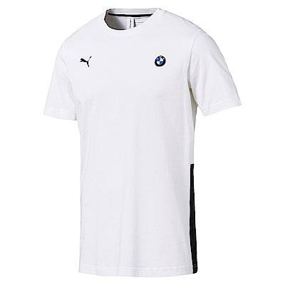 PUMA-男性BMW系列Life短袖T恤-白色-歐規